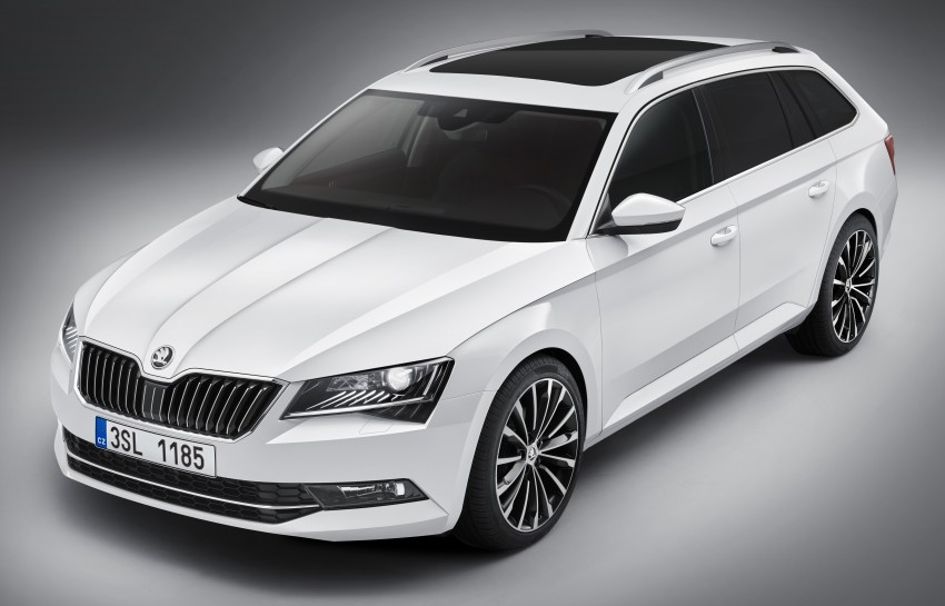 2015 Skoda Superb Combi revealed with up to 1,950 litres of storage space, goes on sale in September Image #342978