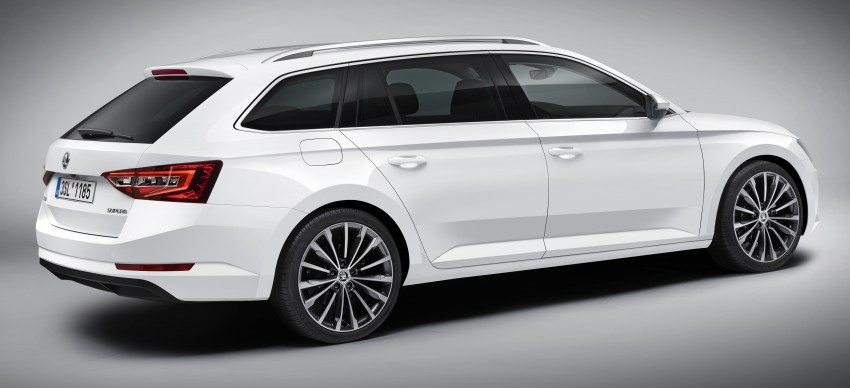 2015 Skoda Superb Combi revealed with up to 1,950 litres of storage space, goes on sale in September Image #342979