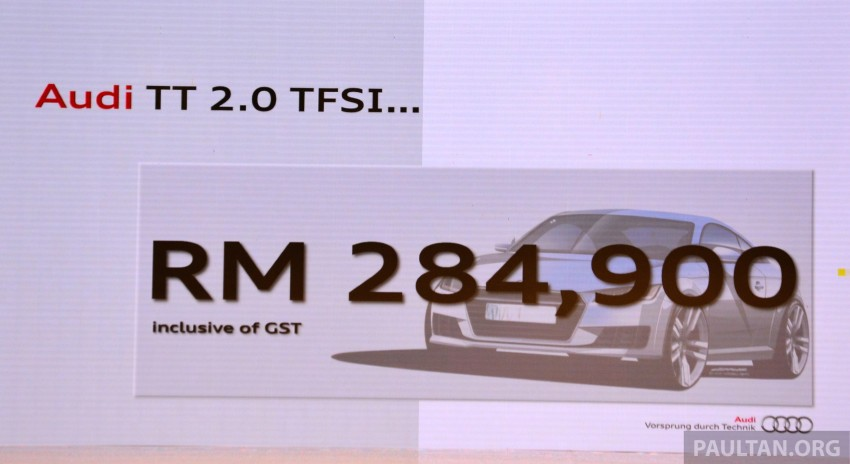 New Audi TT launched in Malaysia - 2.0 TFSI, RM285k Paul ...