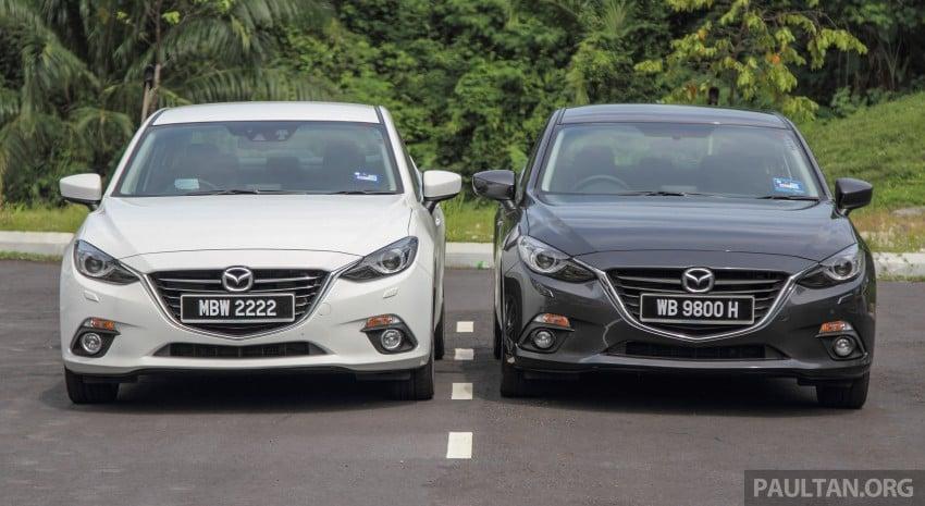 GALLERY: 2015 Mazda 3 CKD – Sedan vs Hatchback Image #337667