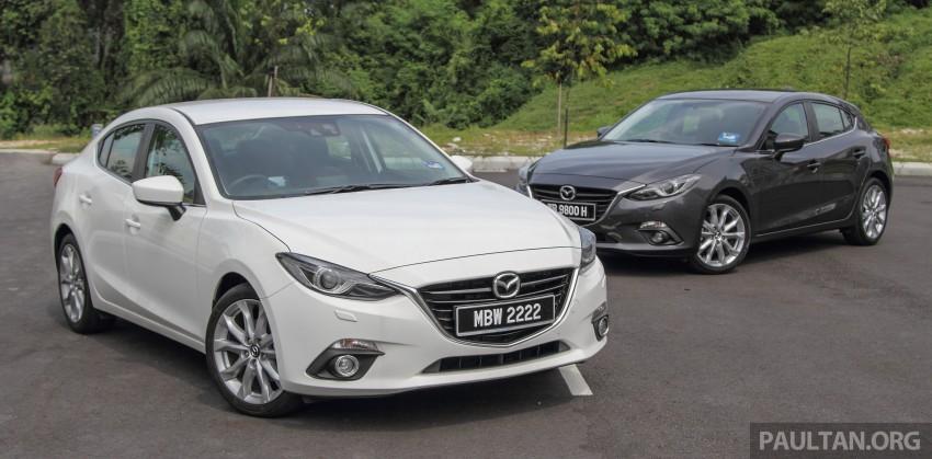 GALLERY: 2015 Mazda 3 CKD – Sedan vs Hatchback Image #337669