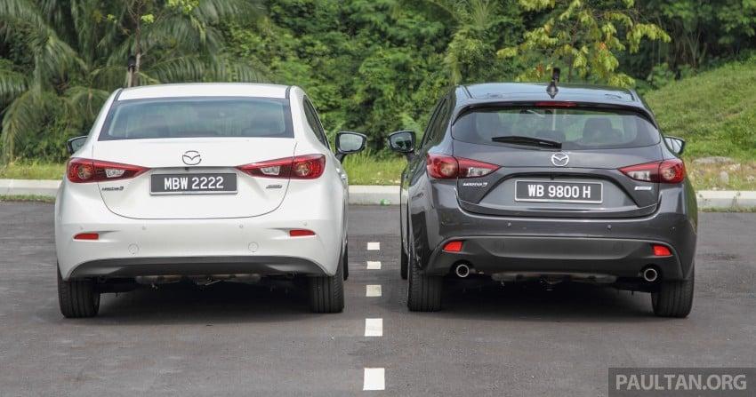 GALLERY: 2015 Mazda 3 CKD – Sedan vs Hatchback Image #337670