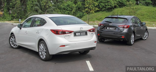 gallery 2015 mazda 3 ckd sedan vs hatchback. Black Bedroom Furniture Sets. Home Design Ideas