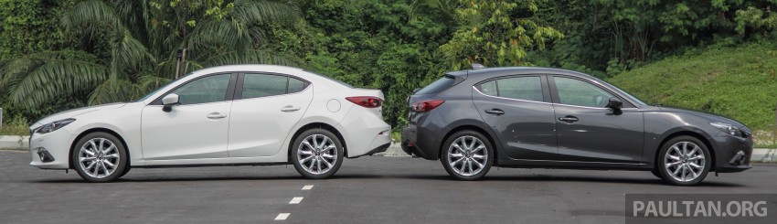GALLERY: 2015 Mazda 3 CKD – Sedan vs Hatchback Image #337673