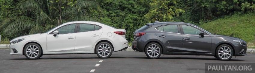 GALLERY: 2015 Mazda 3 CKD – Sedan vs Hatchback Image #337673