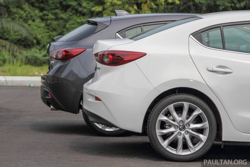 GALLERY: 2015 Mazda 3 CKD – Sedan vs Hatchback Image #337675