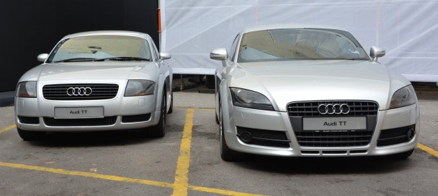 gallery audi tt coupe mk1 and mk2 on display. Black Bedroom Furniture Sets. Home Design Ideas