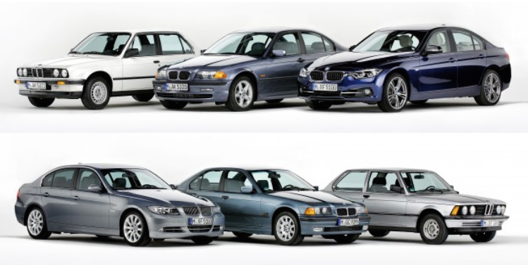 The Bmw 3 Series Six Generations Over Four Decades Image