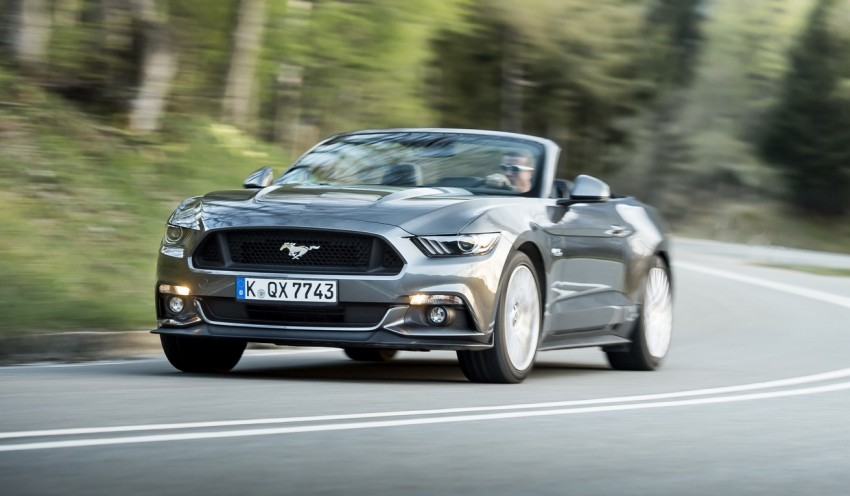 GALLERY: S550 Ford Mustang – European versions of the sixth-gen fastback and convertible break cover Image #336197