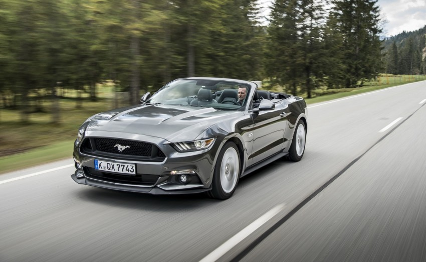 GALLERY: S550 Ford Mustang – European versions of the sixth-gen fastback and convertible break cover Image #336208