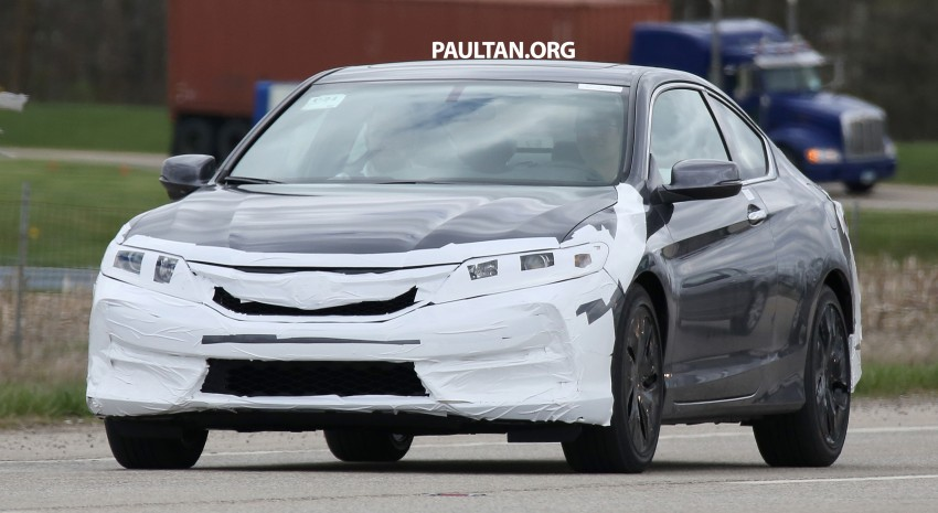SPIED: 2016 Honda Accord Coupe wears little camo Image #336322