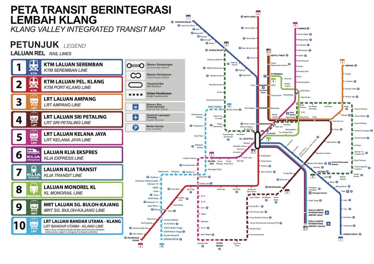 Lrt Route Map Malaysia LRT3 Bandar Utama Klang rail project   more details about planned