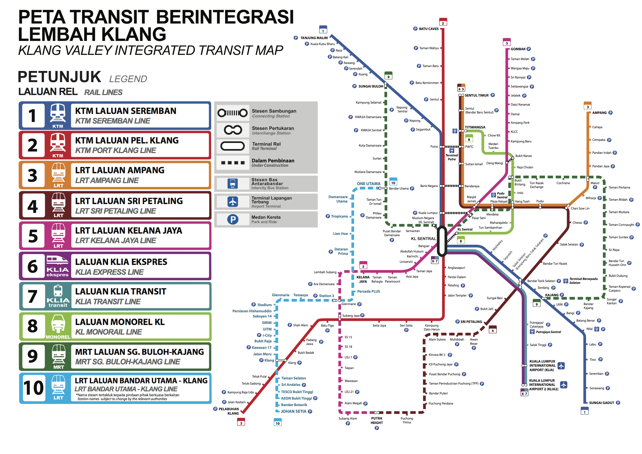 Lrt Route Map Malaysia LRT3 Bandar Utama Klang rail project – more details about planned