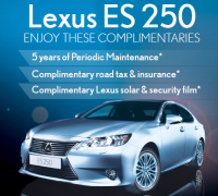 Lexus ES 250 free service