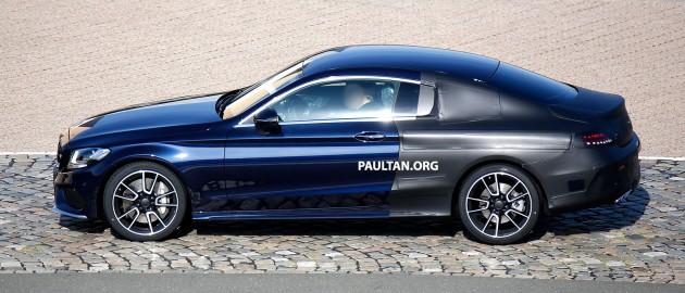 Mercedes C-Class Coupe Spyshots-08