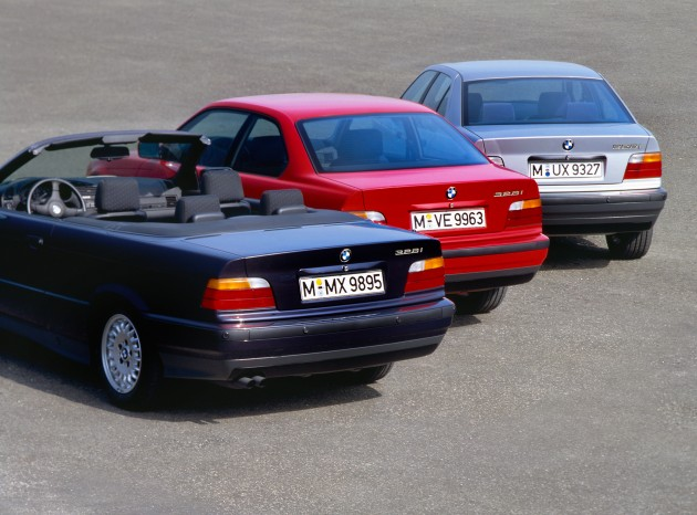 The Bmw 3 Series Six Generations Over Four Decades