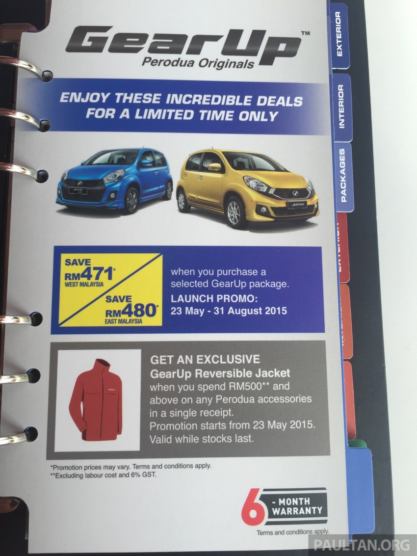 Perodua Myvi GearUp accessories – details and prices Image #342402