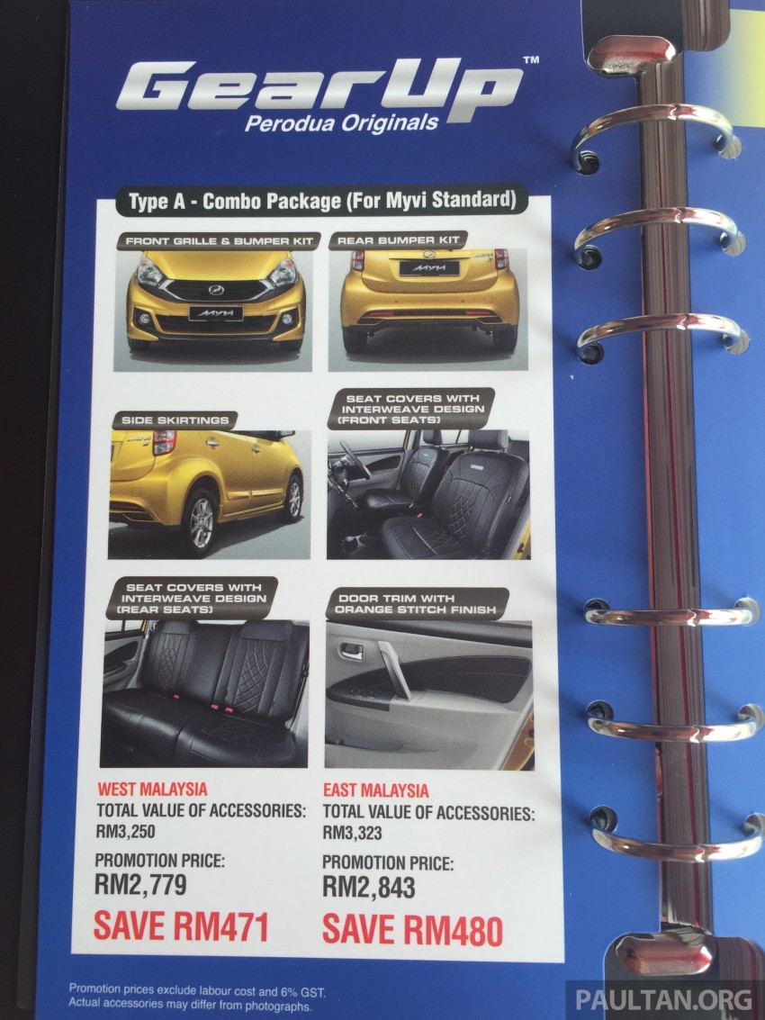 Perodua Myvi GearUp accessories – details and prices Image #342403