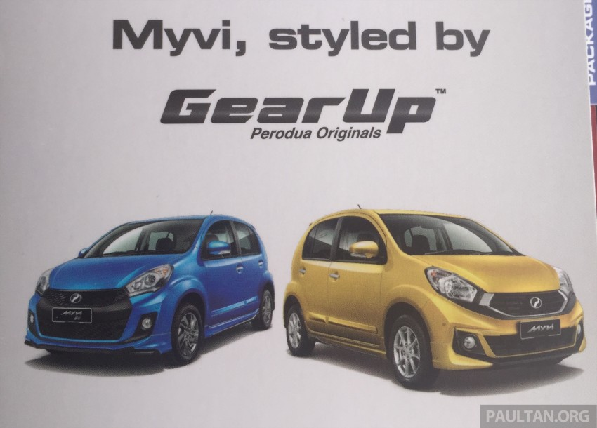 Perodua Myvi GearUp accessories – details and prices Image #342405