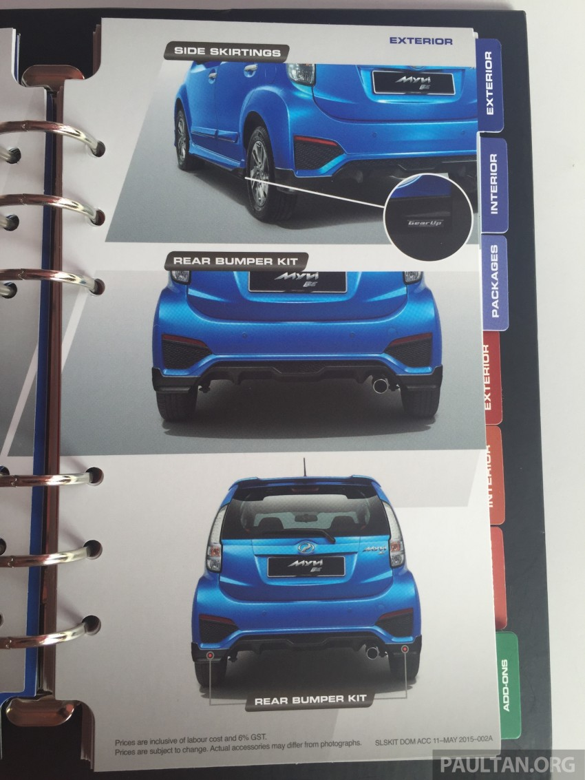 Perodua Myvi GearUp accessories – details and prices Image #342408