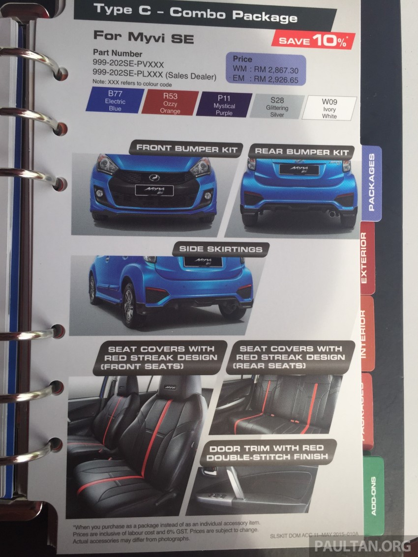 Perodua Myvi GearUp accessories – details and prices Image #342417