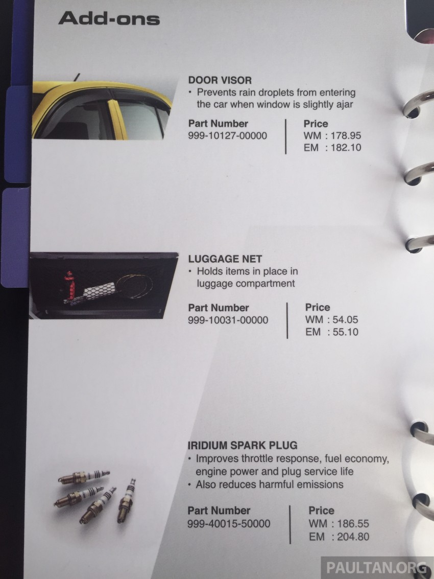 Perodua Myvi GearUp accessories – details and prices Image #342420