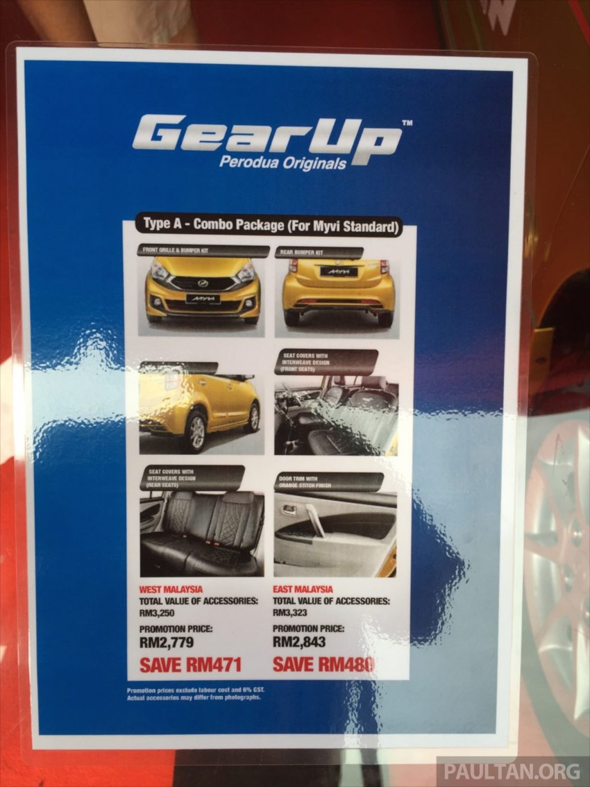 Perodua Myvi GearUp accessories – details and prices Image #342422