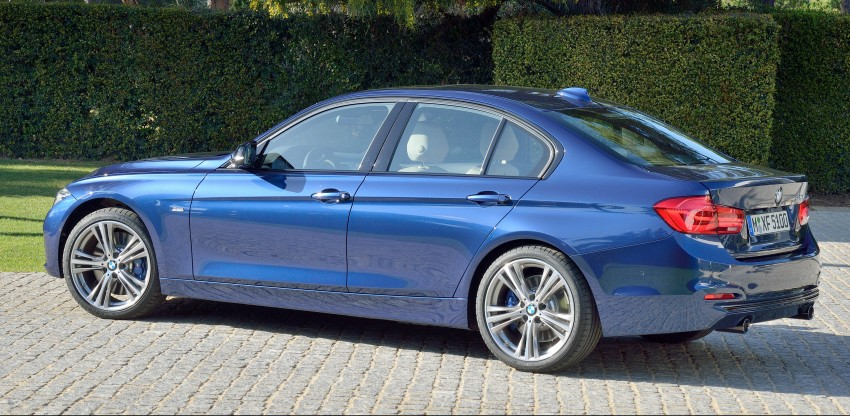 F30 BMW 3 Series LCI unveiled – updated looks, new engine lineup, 330e plug-in hybrid coming 2016 Image #336364