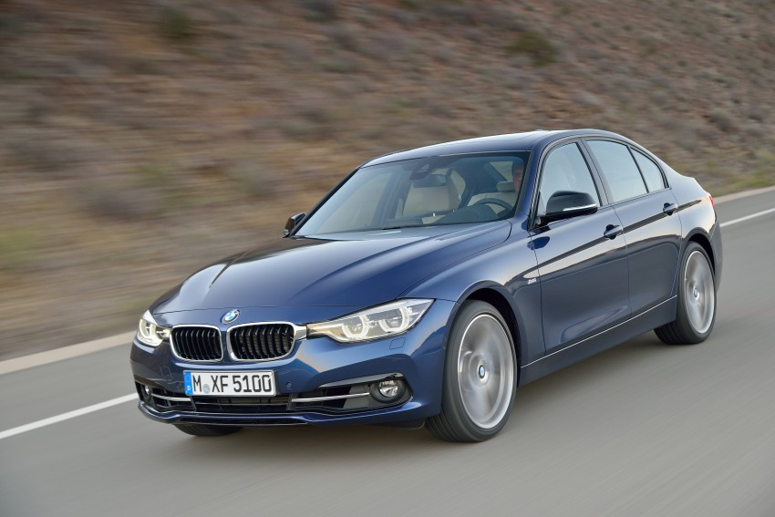 F30 BMW 3 Series LCI unveiled – updated looks, new engine lineup, 330e plug-in hybrid coming 2016 Image #336383