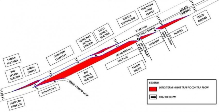 KL MRT: Jalan Cheras to undergo road realignment works, night traffic management on Sprint continues Image #335932