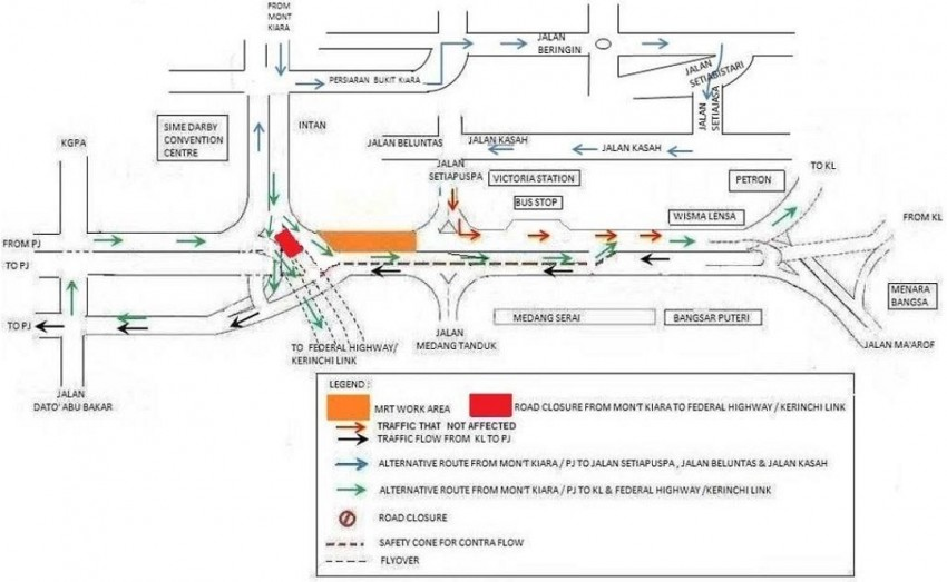 KL MRT: Jalan Cheras to undergo road realignment works, night traffic management on Sprint continues Image #335933
