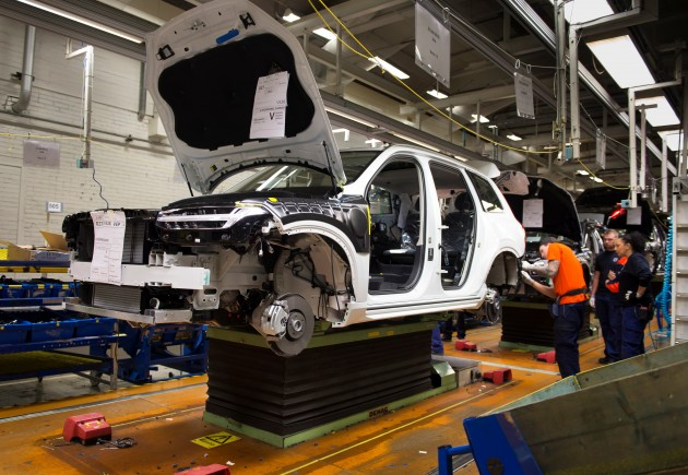 Pre-production of the all-new Volvo XC90 in Torslanda
