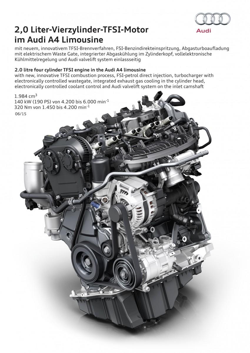 2016 B9 Audi A4 revealed – familiar looks, new tech Image #383998