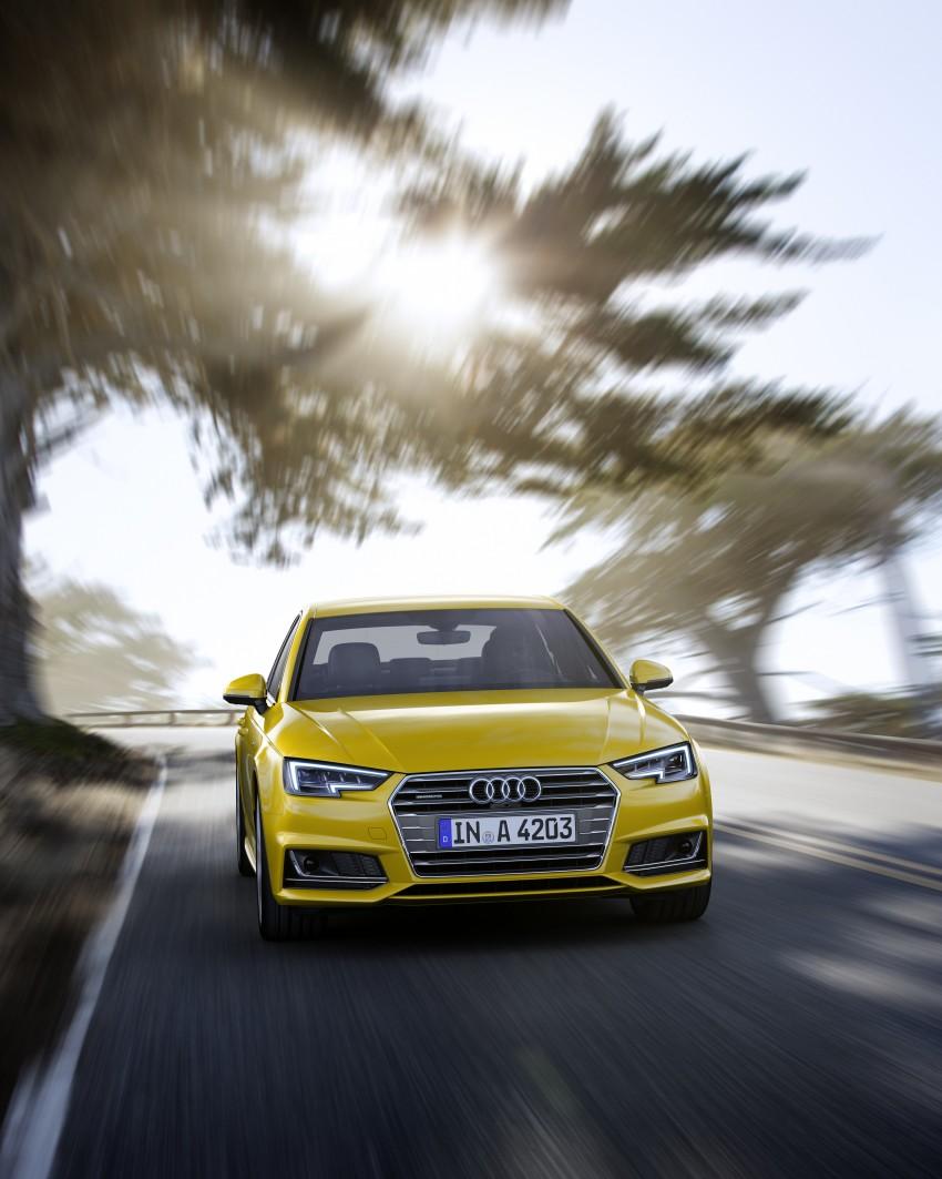 2016 B9 Audi A4 revealed – familiar looks, new tech Image #384092