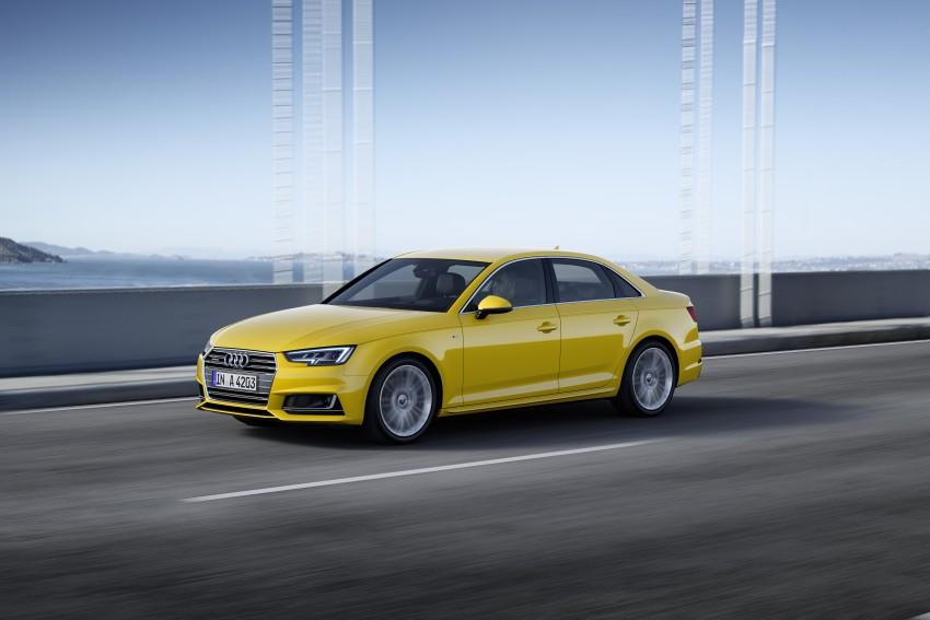 2016 B9 Audi A4 revealed – familiar looks, new tech Image #384093