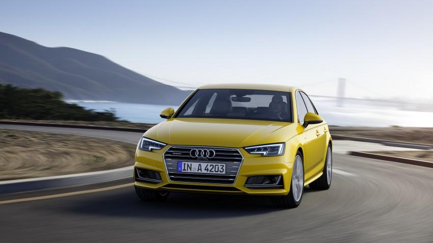 2016 B9 Audi A4 revealed – familiar looks, new tech Image #384095