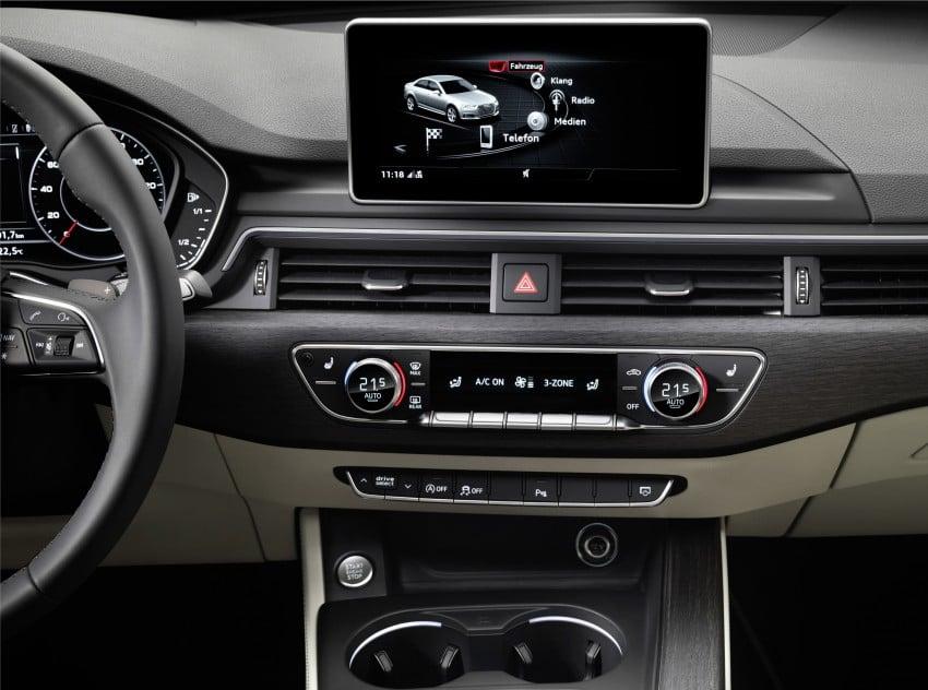2016 B9 Audi A4 revealed – familiar looks, new tech Image #384105