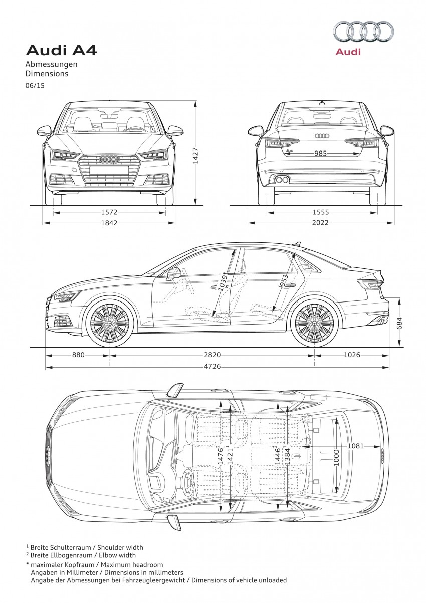 2016 B9 Audi A4 revealed – familiar looks, new tech Image #384000