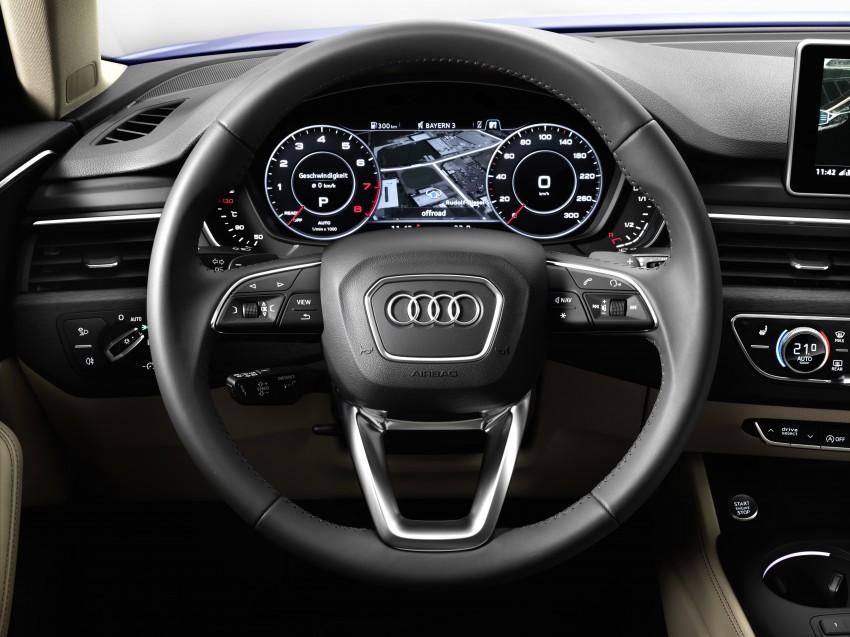 2016 B9 Audi A4 revealed – familiar looks, new tech Image #384117