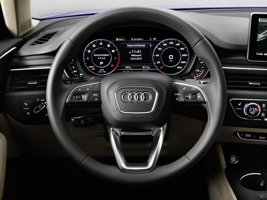 2016 B9 Audi A4 revealed – familiar looks, new tech Image #384119