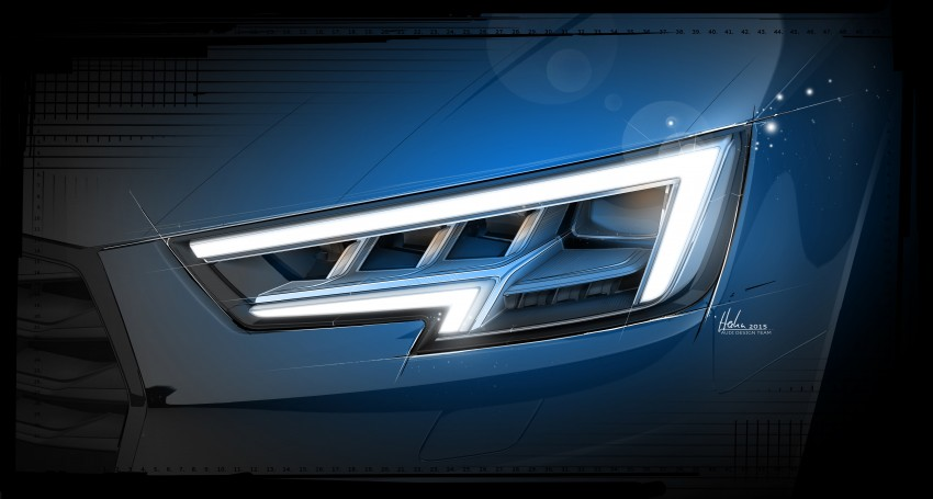 2016 B9 Audi A4 revealed – familiar looks, new tech Image #384006