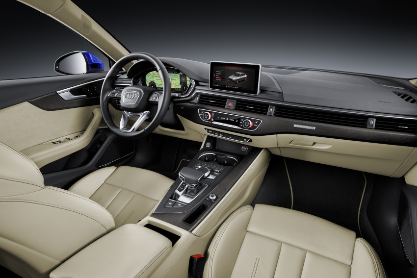 2016 B9 Audi A4 revealed – familiar looks, new tech Image #384016