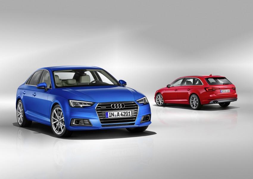 2016 B9 Audi A4 revealed – familiar looks, new tech Image #384021