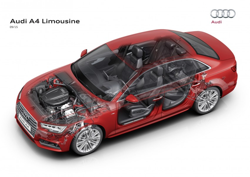 2016 B9 Audi A4 revealed – familiar looks, new tech Image #384024