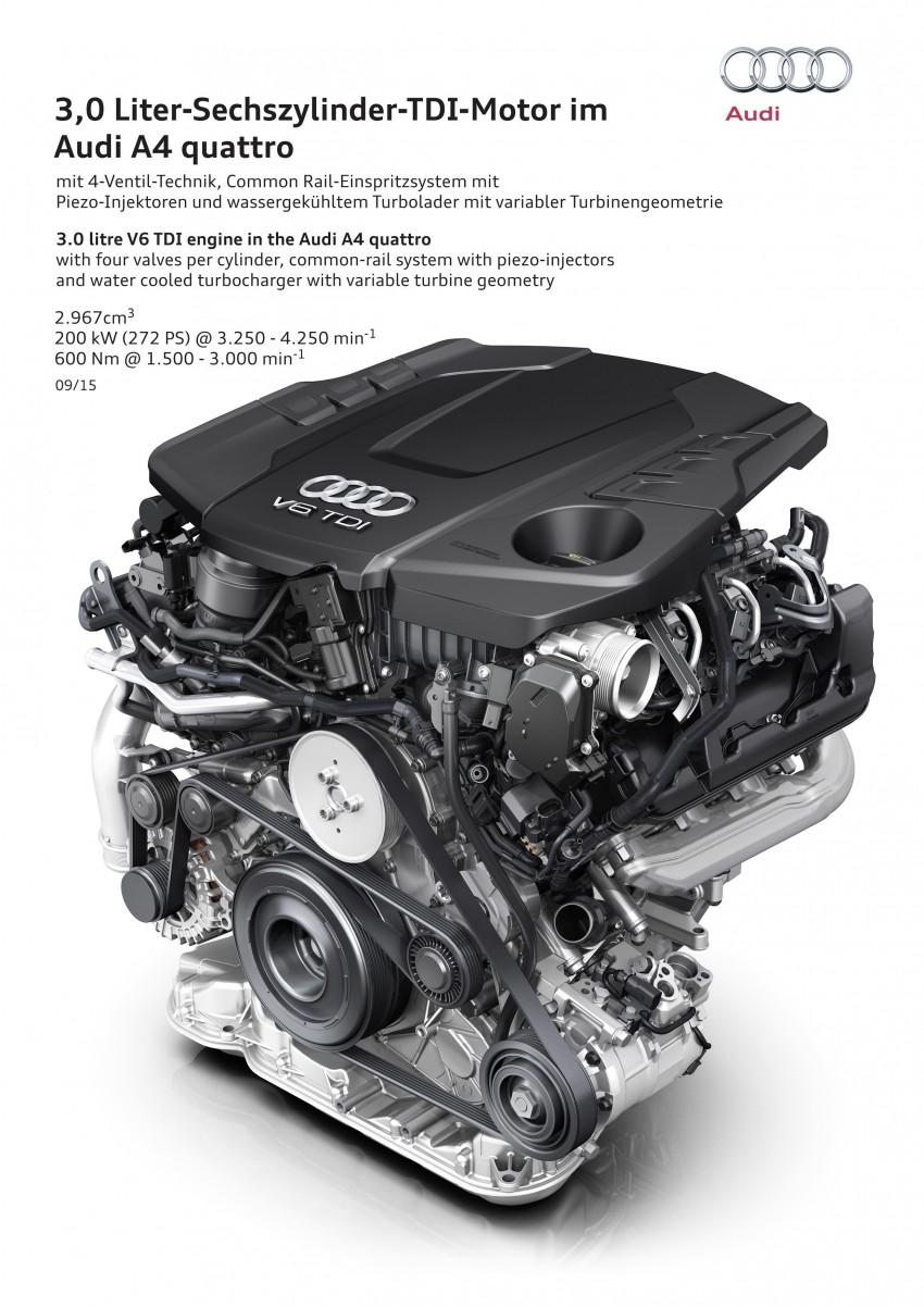2016 B9 Audi A4 revealed – familiar looks, new tech Image #384029
