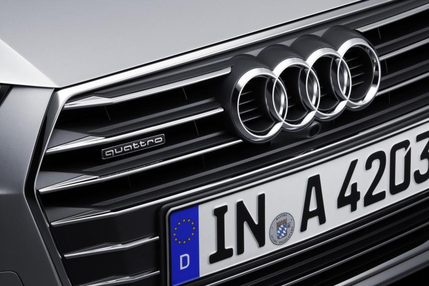 2016 B9 Audi A4 revealed – familiar looks, new tech Image #384068