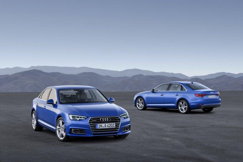 2016 B9 Audi A4 revealed – familiar looks, new tech Image #384075