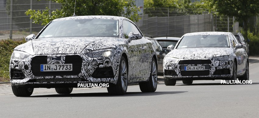SPYSHOTS: 2017 Audi A5 caught for the first time Image #350971