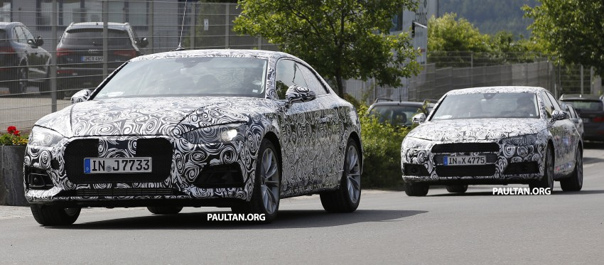 SPYSHOTS: 2017 Audi A5 caught for the first time Image #350970