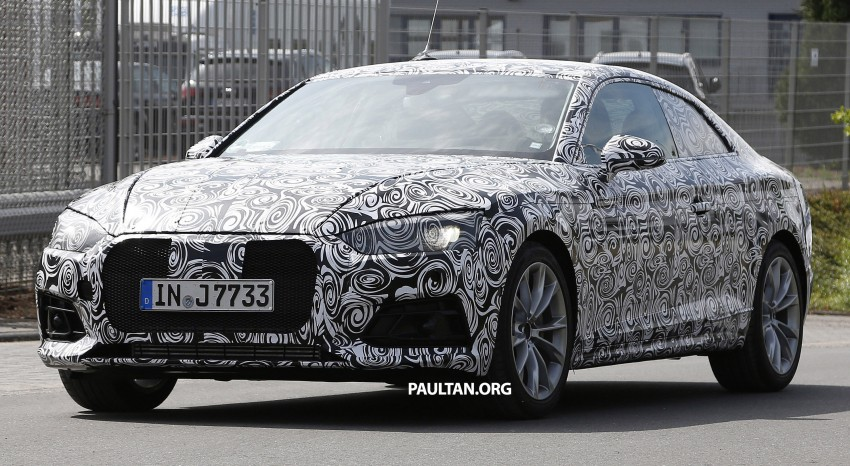 SPYSHOTS: 2017 Audi A5 caught for the first time Image #350969